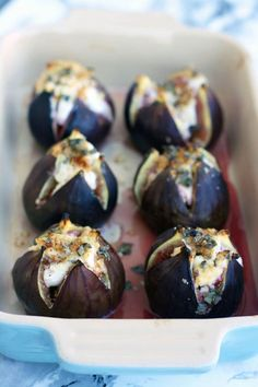 Baked Figs with Goat Cheese is part of Gourmet Thanksgiving appetizers - Easy Baked Figs with Goat Cheese, walnuts, honey and sage recipe These baked figs make for an elegant savory appetizer your guests will love! Fig Appetizer, Gourmet Appetizers, Cheese Appetizers, Appetizer Recipes, Sage Recipes, Goat Cheese Recipes, Gourmet Cheese, Top Recipes, Recipes With Figs