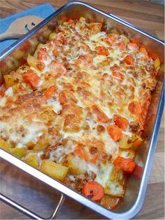 Low Carb Kohlrabi Karotten Hackfleisch Auflauf - Leckeres Rezept