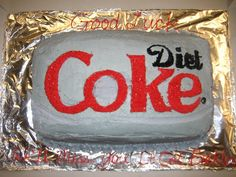 I want this for my next birthday !! Diet Coke cake.