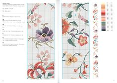 Cross Stitch Borders, Cross Stitch Designs, Cross Stitch Patterns, Rico Design, Stitch 2, Floral Tie, Embroidery Patterns, Cross Stitch Flowers, Cross Stitch Embroidery