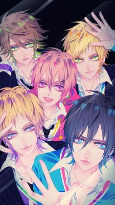 Tags: Five Males, Black Background, Ibuki (mangaka), Sasaki Souta, Tutiya Masaki, Takanashi Haruka