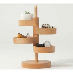 4 Tier Wooden Office Desk Organizer