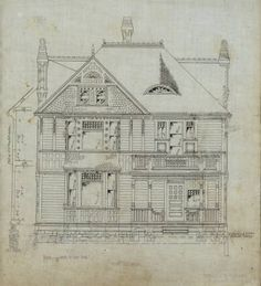 John C. Stallcup residence (Tacoma, Wash.), front elevation :: Architecture of the Pacific Northwest Collection