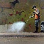 Looks like Banksy.
