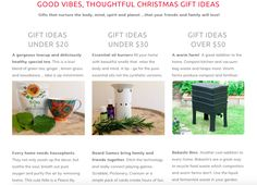 12 Clever Christmas Gift Ideas that are good for the body mind spirit planet