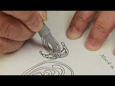 Cloudtangle教學畫@Zentangle禪繞畫 How to draw Mooka 如何畫Mooka - YouTube