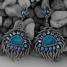 Tanzanite and Opal Diamonds Earrings #designerjewelry #jewelleryaddict #jaxemrata #jewelryaddict #jewelrymaking #jewelry #italianjewellery #ijl #londonjewellery #dubaijewellery #jckshow #bestselling #hotselling #hot #coolstuff #diamondstuds #solitaire #taylorswift #danbilzerian #selenagomez #kimkardashian #beyonce #beach #bikini #couturecollection #coutureshow #jcklasvegas #miamibeach @instagram #interior #interiordesign
