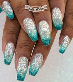 Glitzergele in Radiant, Snow Cone und Peacock von Light Elegance by . - Glitzergele in Radiant, Snow Cone und Peacock von Light Elegance by . Glitzergele in Radiant, Snow Cone und Peacock von Light Elegance by … – nails & co - Glitter Gel Nails, Sparkle Nails, Pink Nails, My Nails, Glitter Face, Glitter Stars, Green Glitter, Fabulous Nails, Gorgeous Nails