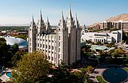 """Mormon Temple of the Church of Jesus Christ of Latter-day Saints. Built late of local granite. Part of tourist attraction """"Temple Square""""; but tourists are not allowed inside. Salt Lake Temple, Salt Lake City Utah, Lds Conference, Church News, Lds Church, Temple Square, Lds Temples, Mormon Temples, Holy Ghost"""