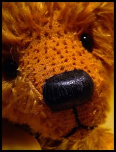 Nose waxed and buffed #artistbears #teddy #teddybears www.allbearbypaula.com