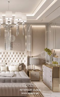 Master bedroom luxury design fot modern house in Dubai. Luxury interior from Spazio interior decoration LLC, Dubai. More ideas is available on the web site.