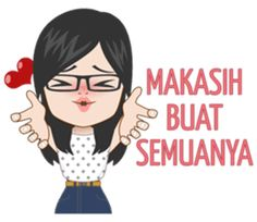 Jelita is an attractive girl who has a long distance relationship. Use this sticker set to express your sensitive feelings Emoji People, Religion Quotes, Postive Quotes, Cartoon Jokes, New Sticker, Self Reminder, Quotes Indonesia, Cute Love Quotes, Funny Stickers
