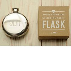 Your entire wedding party will enjoy one of these sleek pocket-size flasks, from Izola.