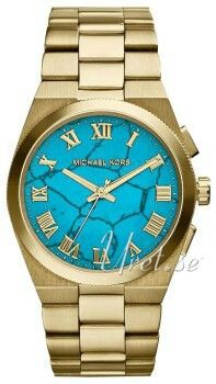 047e2b28cf139 The Michael Kors 'Channing' Turquoise Dial Watch features gleaming Roman  numeral indexes that rest atop a gorgeous, genuine turquoise dial that  takes center ...