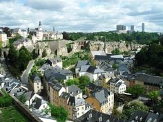 Luxembourg City, Luxembourg.  A city on a hill.  We went to the circus-- it was like a cross between Cirque du Soleil and Barnum & Bailey, by jeri