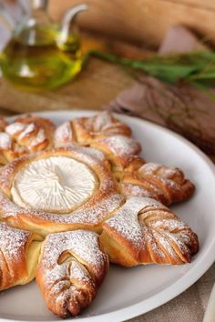 all the beauty things..This is a buttery pastry with sweet cheese in the center. BDonna.