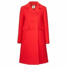 Orla Kiely Double Wool Crepe Double Breasted Coat