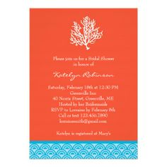 ==> reviews          	Coral Bridal Shower Invitation           	Coral Bridal Shower Invitation In our offer link above you will seeHow to          	Coral Bridal Shower Invitation Online Secure Check out Quick and Easy...Cleck Hot Deals >>> http://www.zazzle.com/coral_bridal_shower_invitation-161440000220817098?rf=238627982471231924&zbar=1&tc=terrest
