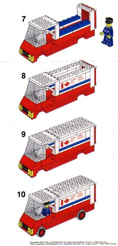 LEGO Canada Post Truck Instructions 105, City_02