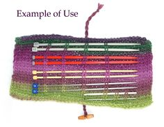 Knitting Needle Holder via Etsy.