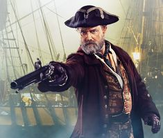"""Hugh Bonneville as Henry Avery. * Henry Every (1659 – after 1696), aka: John Avery, Henry Bridgeman, & """"Long Ben"""" to his crew -- was an English pirate who operated in the Atlantic and Indian oceans in the mid-1690s.  He was called  """"The Arch Pirate"""" and """"The King of Pirates"""" by contemporaries because he was one of the few pirate captains to retire with his loot without being arrested or killed in battle..."""