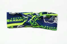 Seattle Seahawks Head-wrap. Hawks headband comes in infant through adult sizes