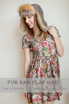 Free PDF Pattern and Tutorial   Faux Fur Ear Flap Hat by Erin    Sewbon   Project   Sewing / Hats   Kollabora