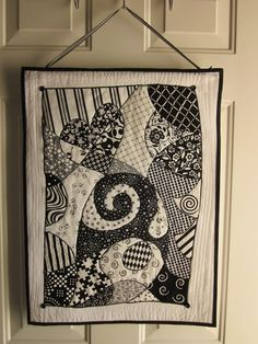 ~ Zany Quilter ~: � Zentangle Quilt Tutorial