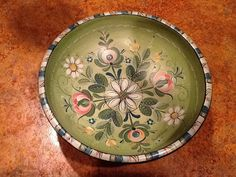 Colorful Os style bowl by RusticRoseArt on Etsy