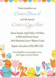Easter invitation egg hunt invitation or any occasion spring easter invitation egg hunt invitation or any occasion spring party free wording customization quick ship easter pinterest spring invitations and stopboris Image collections