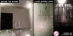 """Friend of mine is working on this """"invisible ad campaign"""" for hotel bathrooms.[1172 x 587]"""