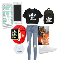"""Adidas"" by ellamcconnell2005 on Polyvore featuring adidas, Frame Denim, NIKE, Miss Selfridge, adidas Originals and Forever 21"