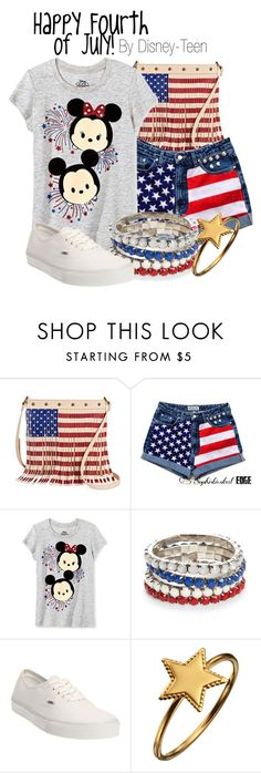 """""""Happy Fourth of July!"""" by disney-teen ❤ liked on Polyvore featuring Twig & Arrow, Disney, Red Camel, Vans, Phoebe Coleman, disney, disneybound, fourthofjuly, july4th and disneyfashion"""