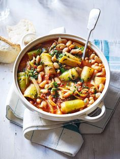 This vegetarian one-pot recipe deserves to be mopped up with plenty of fresh crusty bread.