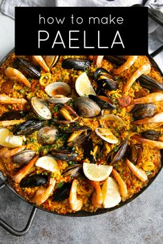 Fish Recipes, Seafood Recipes, Seafood Paella Recipe, Cooking Recipes, Best Paella Recipe, Seafood Cioppino, Rice Dishes, Main Dishes, Spanish Dishes