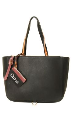 Chloé black #tote bag: two rounded shoulder straps