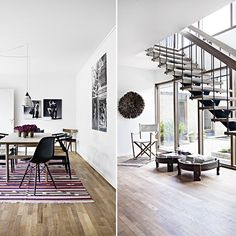 Spennende ferd fra shabby til stilrent Stairs In Living Room, Modern Stairs, Designers Guild, Eames, Teak, Shabby Chic, Furniture, Home Decor, Nature