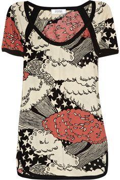 SONIA BY SONIA RYKIEL - Printed cotton-jersey T-shirt, Original Price; $90, $36.00