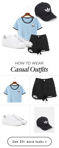 """Casual"" by sophie-spencer1 on Polyvore featuring adidas"