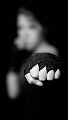 """muay thai"" photograph by Erik Schlicksbier (foreshortened depth of field fist)"