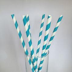 Mavi Çizgili Kağıt Pipet 25'li Paket 4,50TL http://www.partistar.com/