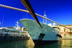 Superyacht at Grand Harbour Marina Malta
