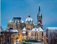 Aachen,Dom,vom Rathaus gesehen