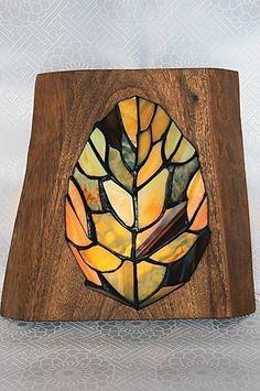 ステンドグラス 枯葉の壁掛け(2種)の画像4枚目