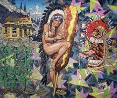 The Arapaho Maiden Who Worshiped A Breaded Weenie But Let Her Mustard Go Brown by Robert Williams on artnet Auctions