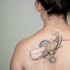 Sperm whale tattoo