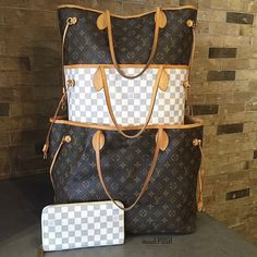 We can never get enough Neverfulls!!! Louis Vuitton Monogram Neverfull GM, MM, Damier Azur Neverfull MM & LV Damier Azur Organizer Zippy wallet! Call us at 813-258-8800 if you would like to purchase before they go online! #louisvuitton #lvneverfull #lvneverfullmm #lvneverfullgm #lvorganizerzippywallet #fashion #trendy #luxury #lvlover #purseblog #purselover #obsessed #moshposhfinds #mymoshposh #happyfriday #tgif #designerhandbags #designerconsignment