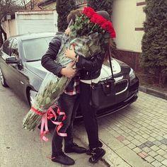 Imagem de love, couple, and rose