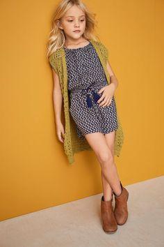 29d615e678 Buy Ochre Knitted Waistcoat (3-16yrs) from the Next UK online shop Cute