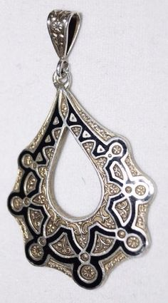 925S, Sterling Silver, Amazing pendant from O. F. Hjortdahl, Norway. RARE!